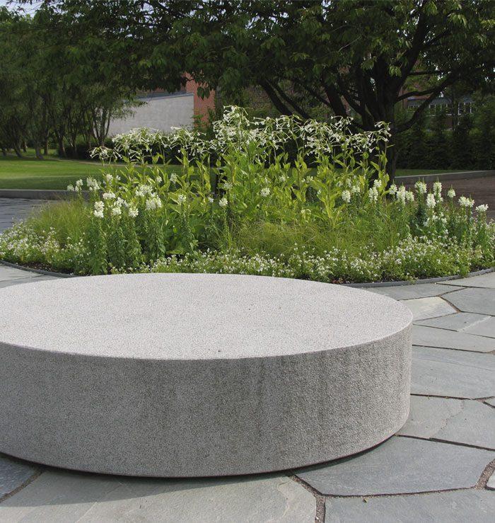 granite pouffe large